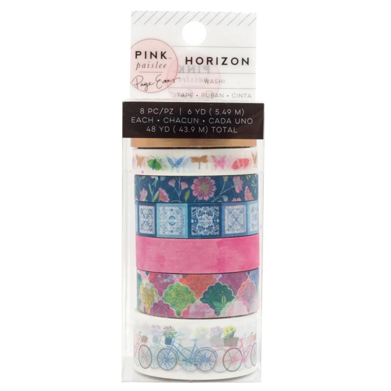 Pink Paislee - Paige Evans - Horizon Washi Tape Set (8 Piece)