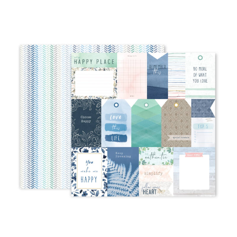Pink Paislee - Indigo and Ivy 12x12 Patterned Paper -  1