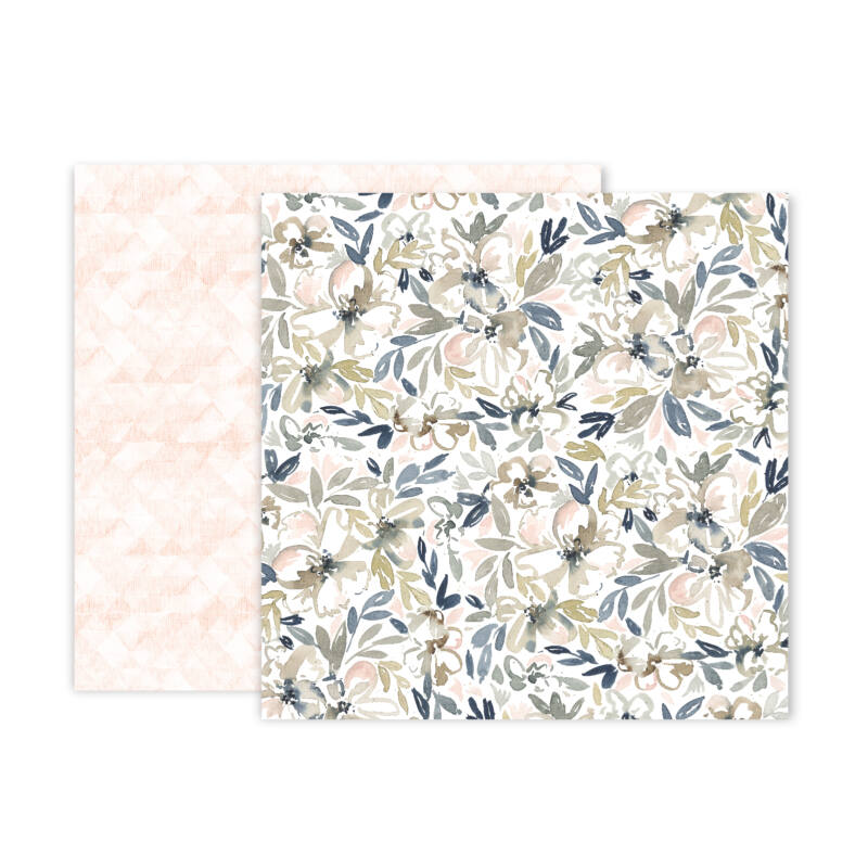 Pink Paislee - Indigo and Ivy 12x12 Patterned Paper -  5
