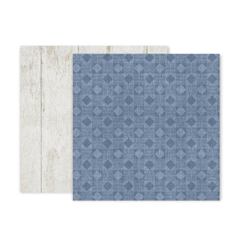 Pink Paislee - Indigo and Ivy 12x12 Patterned Paper -  7