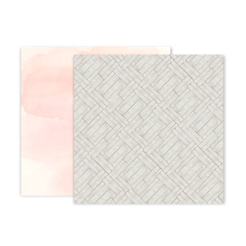 Pink Paislee - Indigo and Ivy 12x12 Patterned Paper -  8