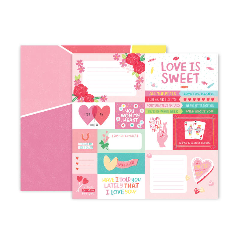 Pink Paislee - Lucky Us 12x12 Patterned Paper - 01