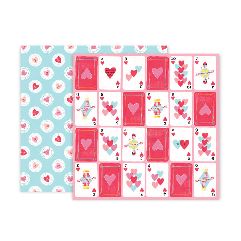 Pink Paislee - Lucky Us 12x12 Patterned Paper - 09