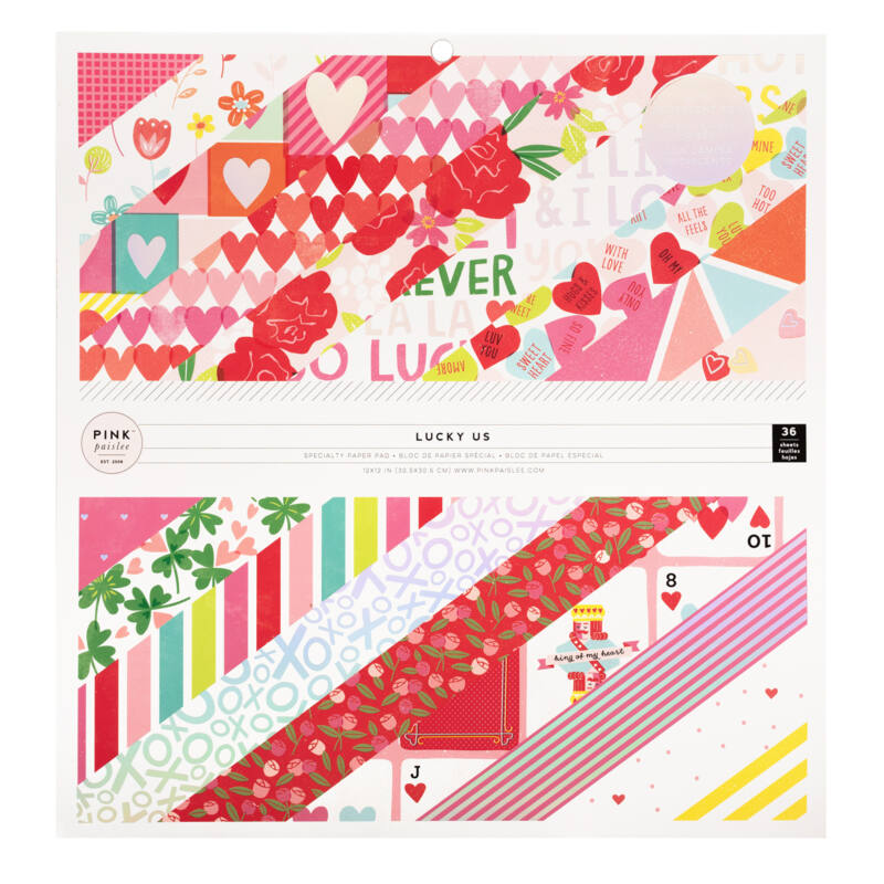 Pink Paislee - Lucky Us 12x12 Paper Pad (36 Sheets)
