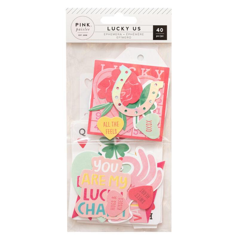 Pink Paislee - Lucky Us Ephemera (40 Piece)