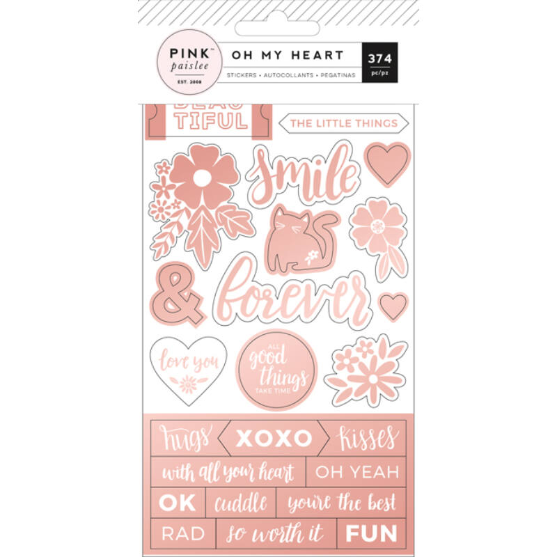 Pink Paislee - Paige Evans Oh My Heart Sticker Book
