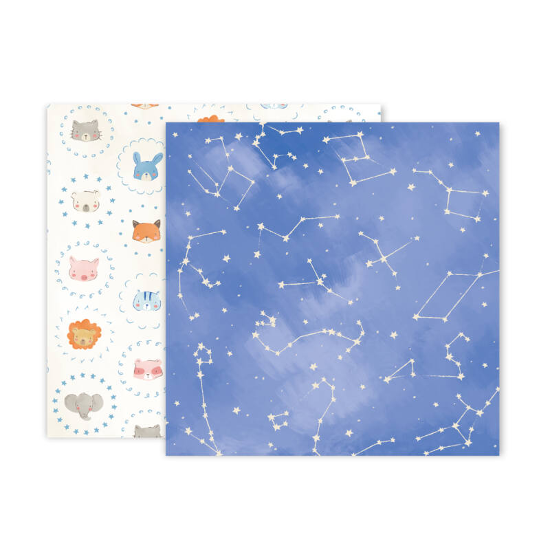 Pink Paislee - Little Adventurer 12x12 Patterned Paper - Paper 10