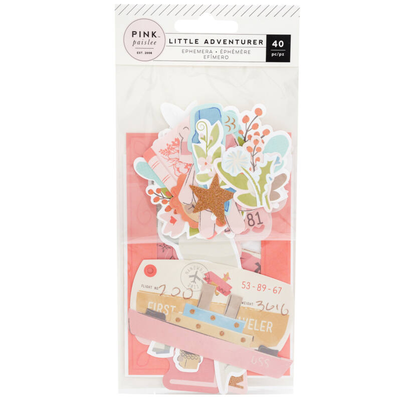 Pink Paislee - Little Adventurer Ephemera - Girl (40 Piece)