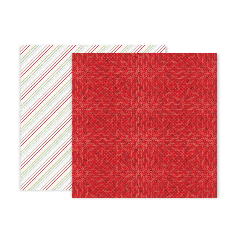 Pink Paislee - Together For Christmas 12x12 Patterned Paper - 6