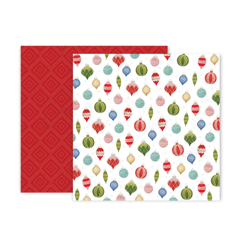 Pink Paislee - Together For Christmas 12x12 Patterned Paper - 11
