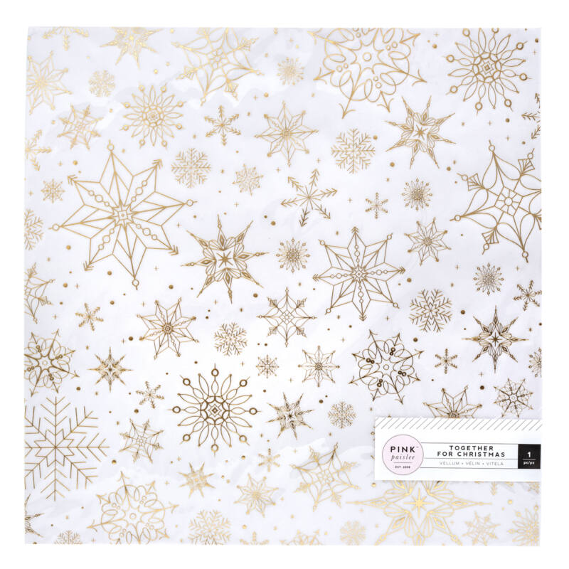 Pink Paislee - Together For Christmas 12x12 Specialty Vellum Paper- Snow Flakes