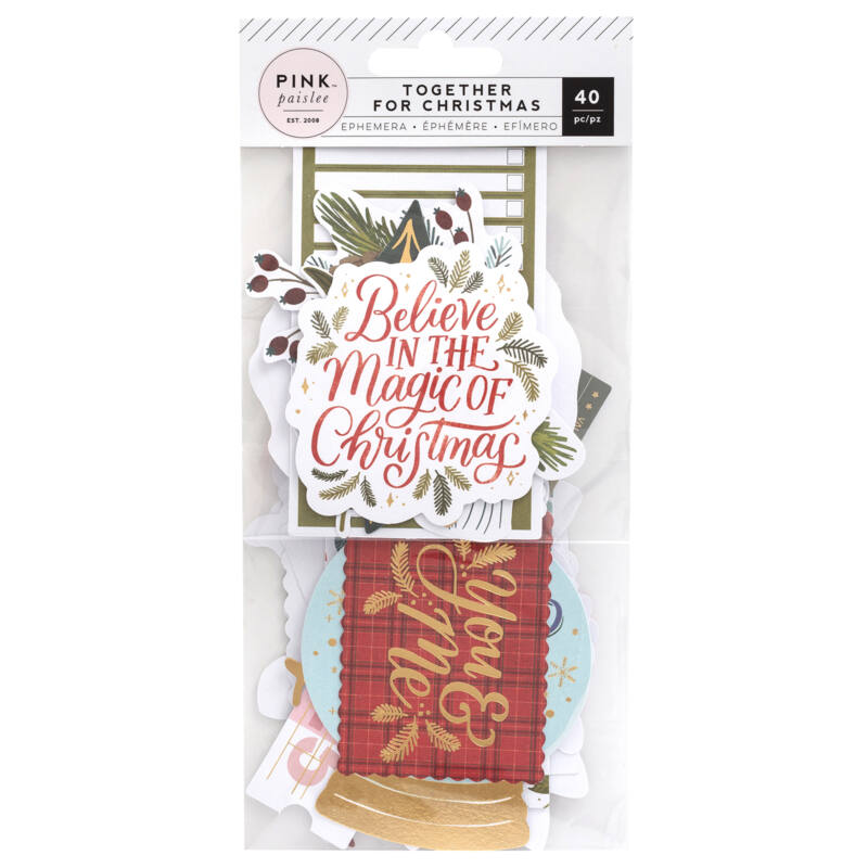 Pink Paislee - Together For Christmas Ephemera (40 Piece)