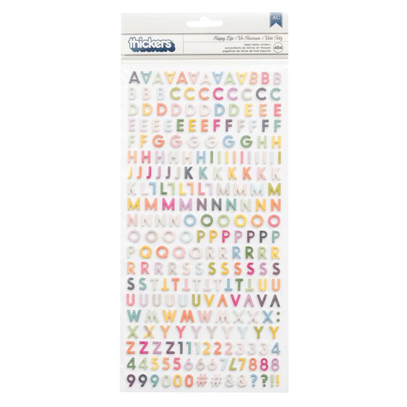 Pink Paislee - Paige Evans Whimsical Mini Foam Alphabet - Happy Life (494 Piece)