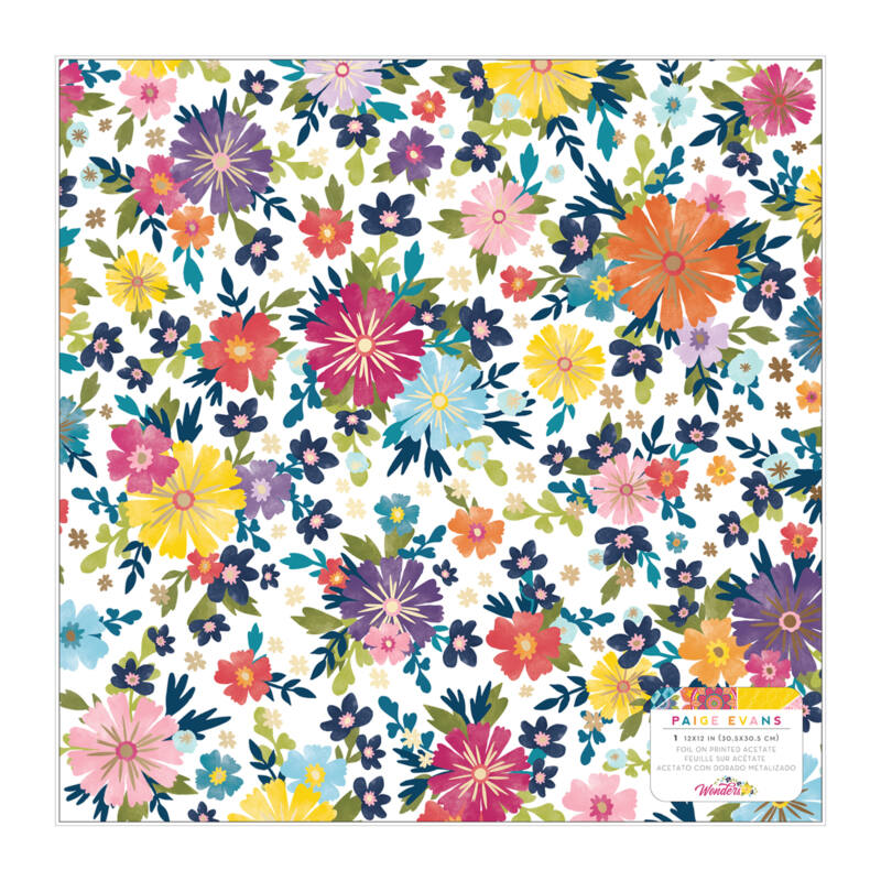American Crafts - Paige Evans - Wonders 12x12 Specialty Paper