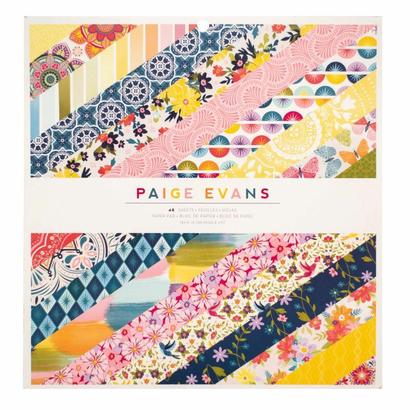 American Crafts - Paige Evans - Wonders 12x12 Paper Pad (48 Sheets)
