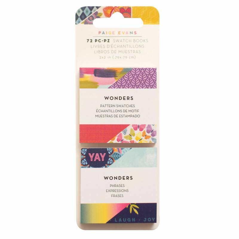 American Crafts - Paige Evans - Wonders 2x2 Mini Swatch Books (72 Sheets)