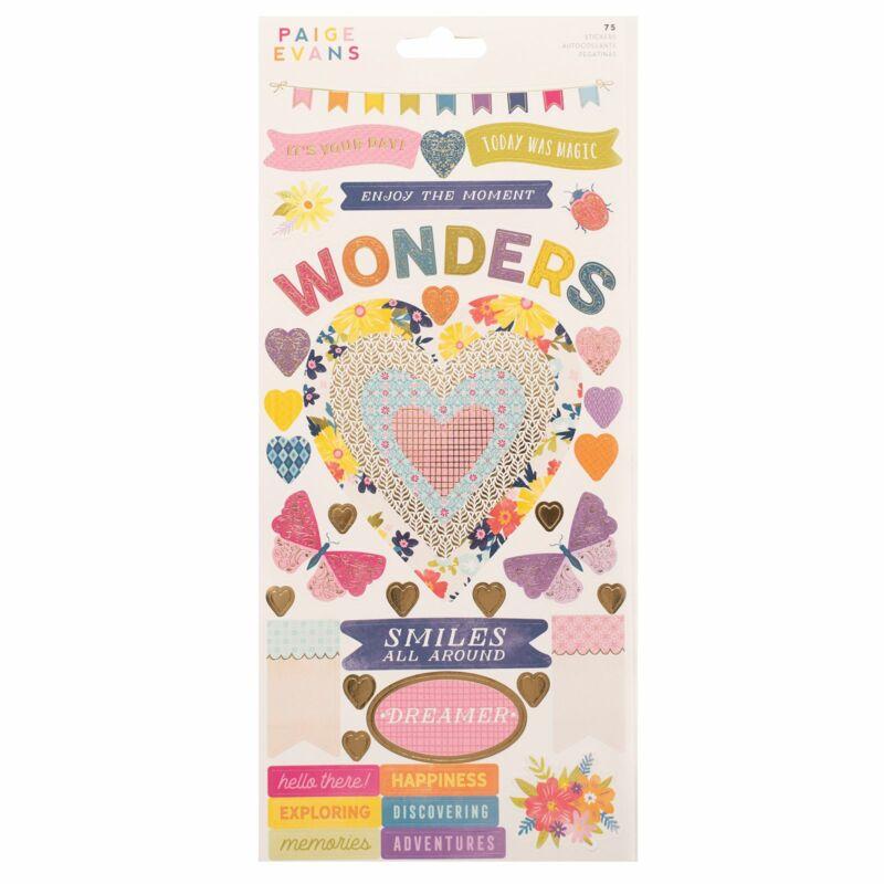 American Crafts - Paige Evans - Wonders 6x12 Sticker Sheet (74 Piece)