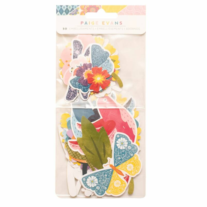 American Crafts - Paige Evans - Wonders Floral Ephemera  (50 Piece)