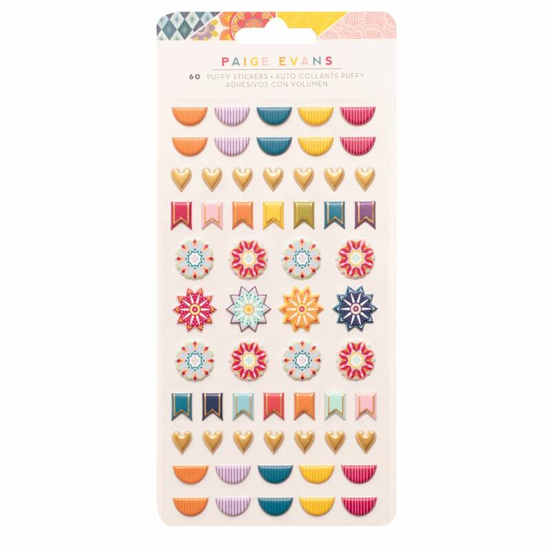 American Crafts - Paige Evans - Wonders Puffy Stickers (60 Piece)