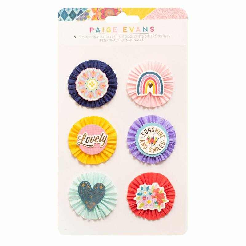 American Crafts - Paige Evans - Wonders Dimensional Stickers (6 Piece)