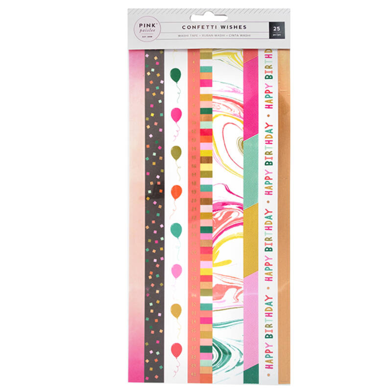 Pink Paislee - Confetti Wishes 6x12 Washi Book