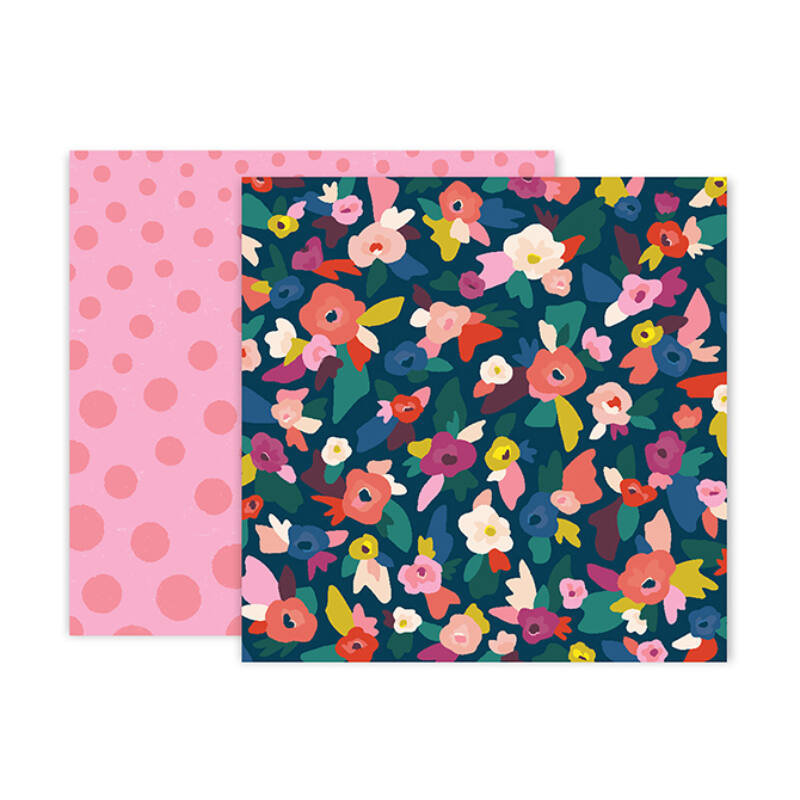 Pink Paislee - Paige Evans - Pick Me Up 12x12 Patterned Paper 2