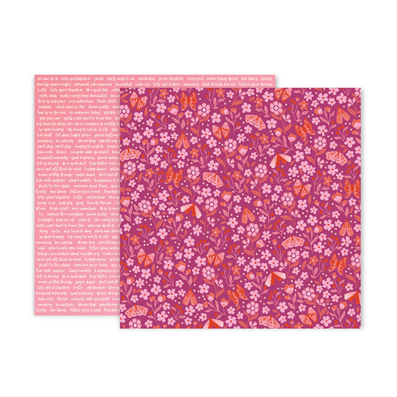 Pink Paislee - Paige Evans - Pick Me Up 12x12 Patterned Paper 17