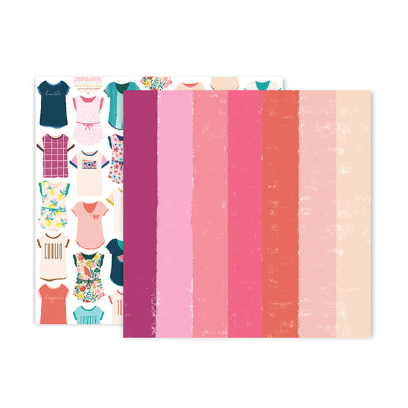 Pink Paislee - Paige Evans - Pick Me Up 12x12 Patterned Paper 24