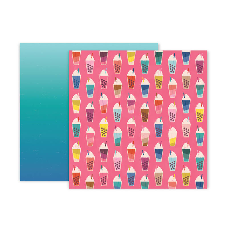 Pink Paislee - Paige Evans - Pick Me Up 12x12 Patterned Paper 4