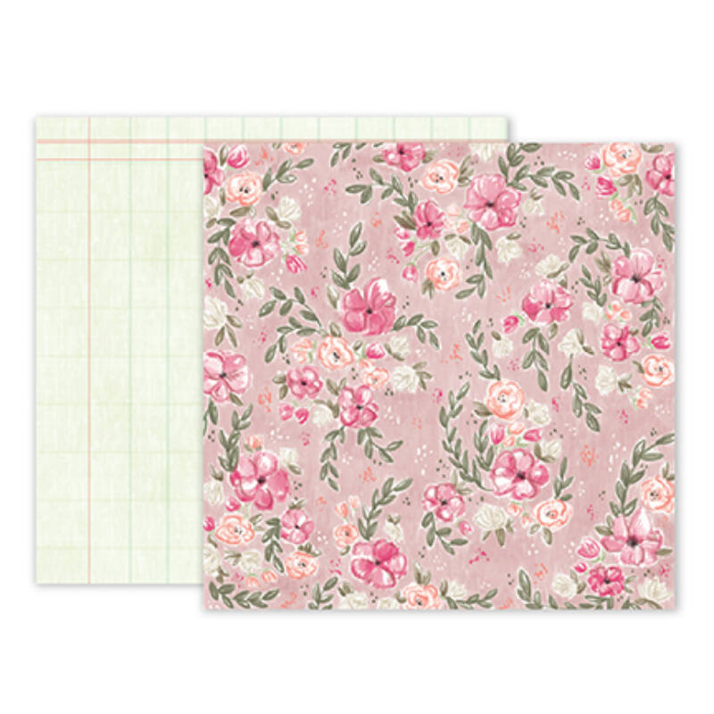 Pink Paislee - Paige Evans - Take Me Away 12 x 12 Double Sided Paper - 02