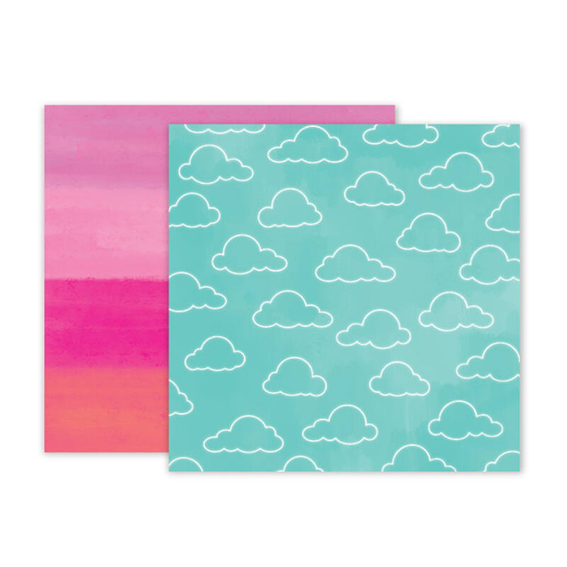 Pink Paislee - Summer Lights 12x12 Double Sided Paper - 05