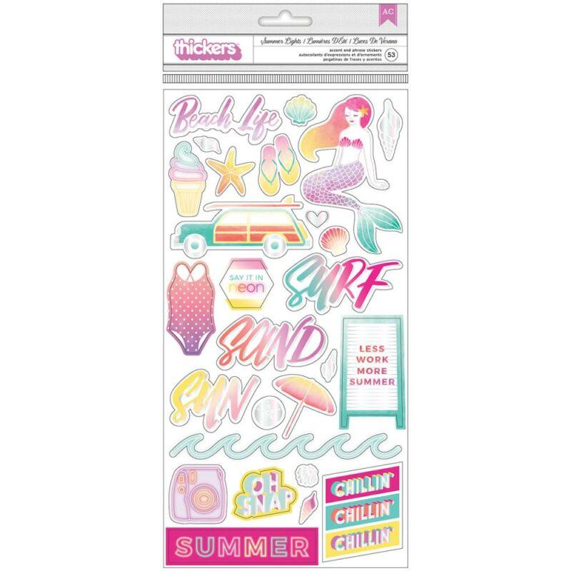 Pink Paislee - Summer Lights 6x12 Chipboard