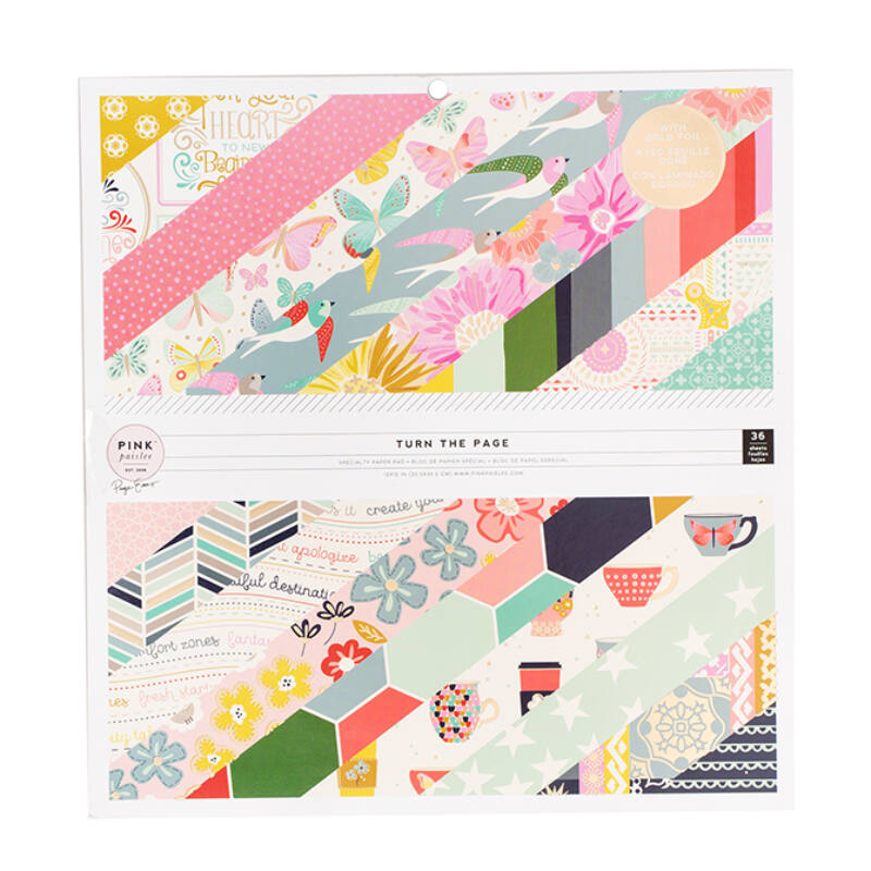 Pink Paislee - Paige Evans - Turn The Page 12x12 Paper Pad
