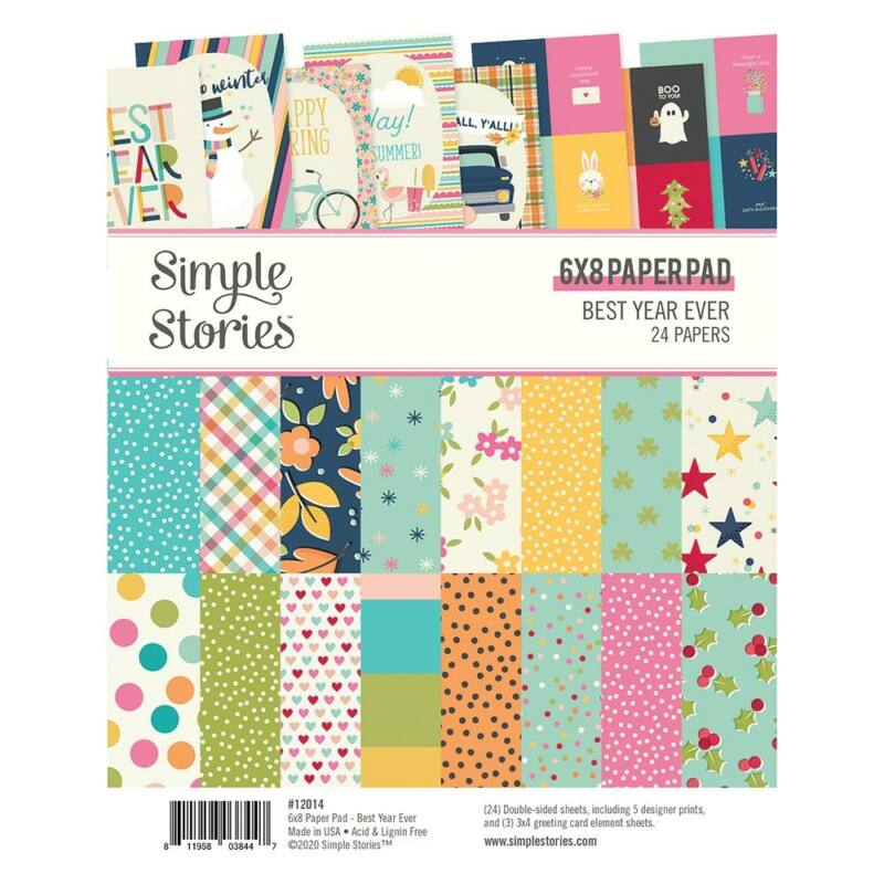 Simple Stories - Best Year Ever 6x8 Paper Pad (24 sheet)
