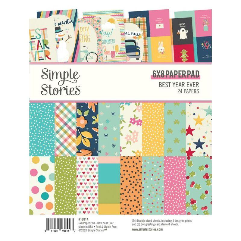 Simple Stories - Best Year Ever 6x8 papírtömb (24 lap)