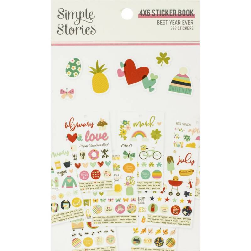 Simple Stories - Best Year Ever 4x6 Clear Stickers (12 Pieces)