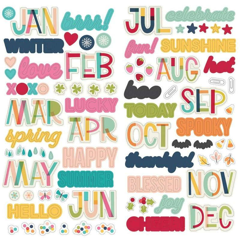 Simple Stories - Best Year Ever Foam Stickers (137 Pieces)