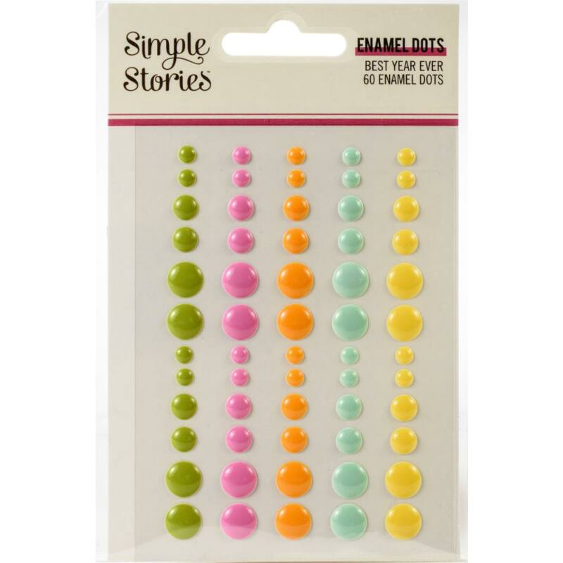 Simple Stories - Best Year Ever Enamel Dots (60 Pieces)