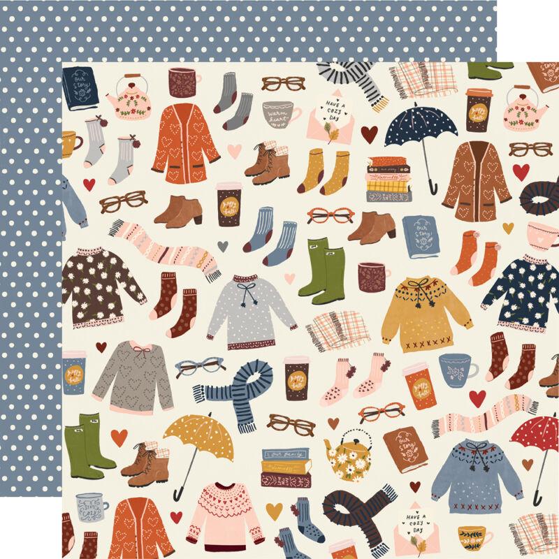 Simple Stories - Cozy Days 12x12 papír - Sweaters & Boots
