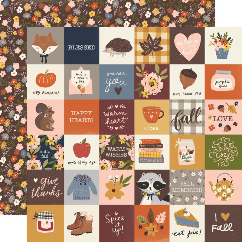 Simple Stories - Cozy Days 12x12 Paper - 2x2 Elements