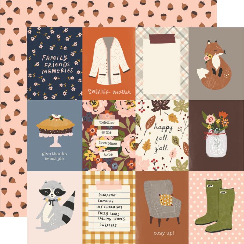 Simple Stories - Cozy Days 12x12 Paper - 3x4 Elements