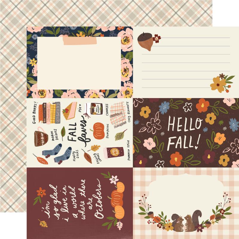 Simple Stories - Cozy Days 12x12 Paper - 4x6 Elements