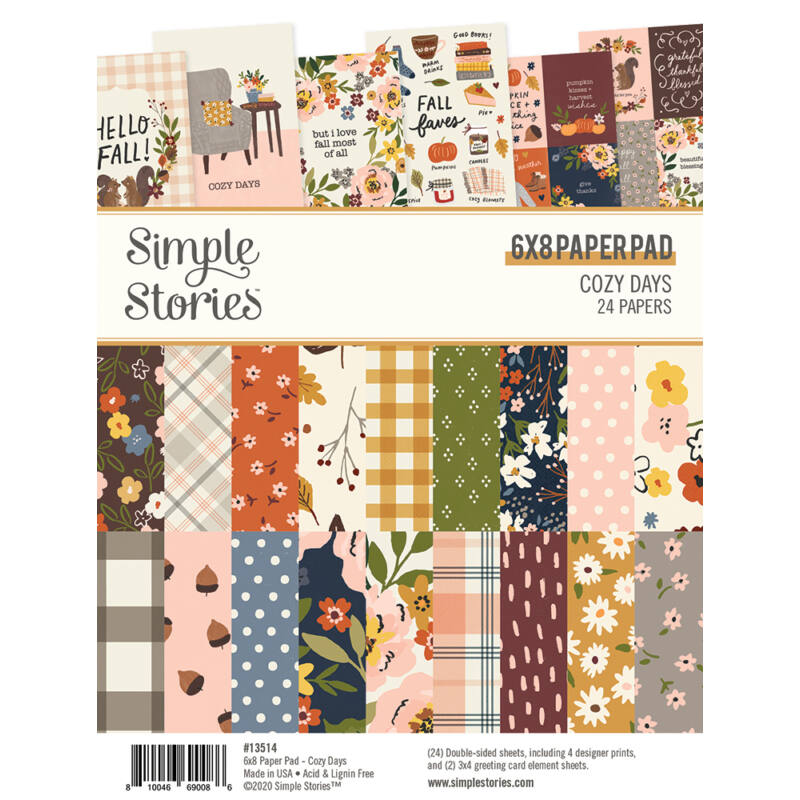 Simple Stories - Cozy Days 6x8 PaperPad (24 Double-Sided Sheets)