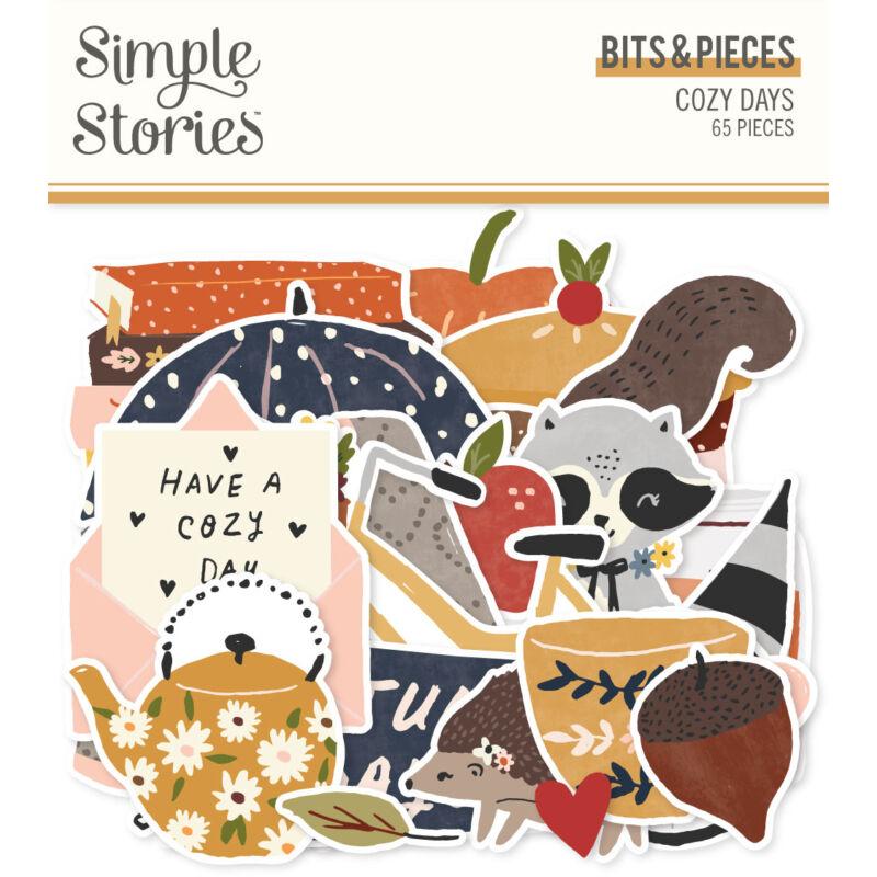 Simple Stories - Cozy Days Bits & Pieces (65 pieces)