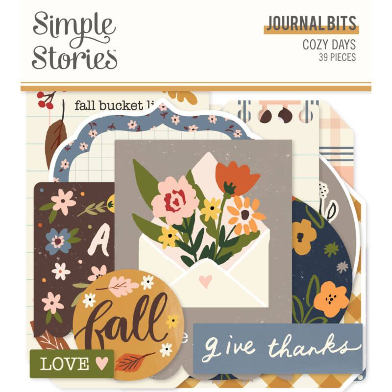 Simple Stories - Cozy Days Journal Bits(39 pieces)