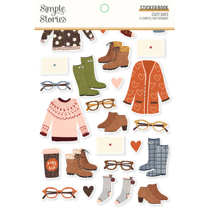 Simple Stories - Cozy Days Sticker Book (684 pieces)