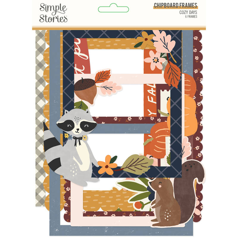 Simple Stories - Cozy Days Chipboard Frames (6 pieces)