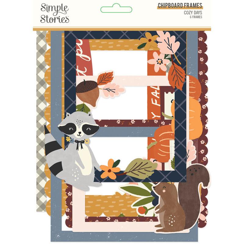 Simple Stories - Cozy Days chipboard keretek (6 db)