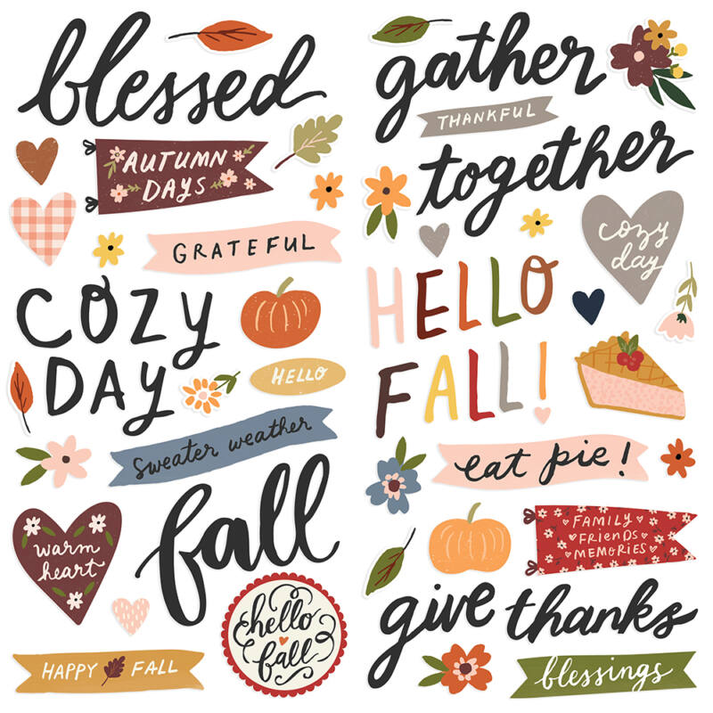 Simple Stories - Cozy Days Foam Stickers (59 pieces)
