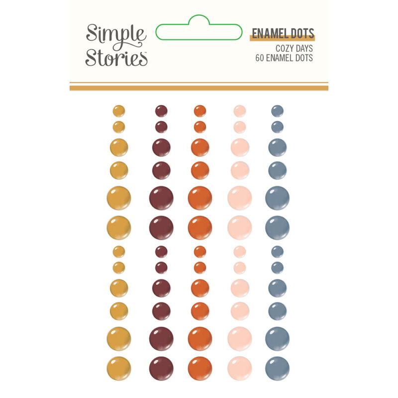 Simple Stories - Cozy Days Enamel Dots (60 pieces)